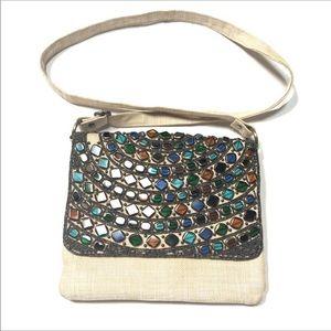 Beautiful Sea-glass Art Deco Shoulder Handbag